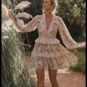 NWT Spell Garden Rose Mini Dress- XL